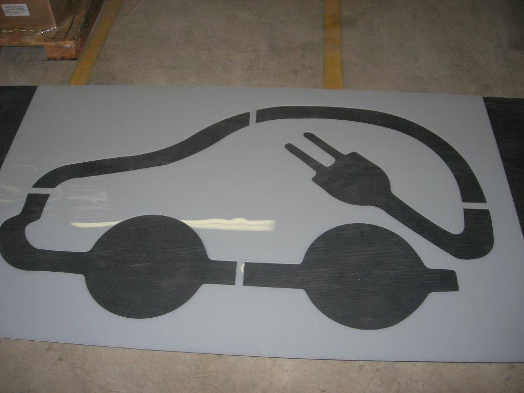 Custom Parking Lot Stencils Fast Line