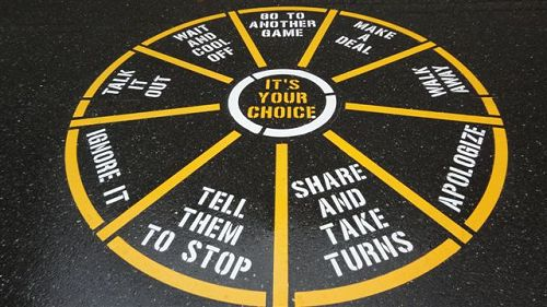 Its Your Choice Conflict Resolution Circle Fast Line - Playground stencils