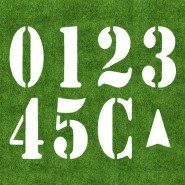 6' Canadian Football Field Number Kit
