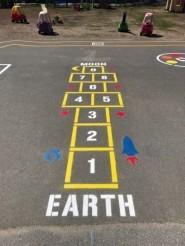 Playground Game Stencils Fast Line - Playground stencils