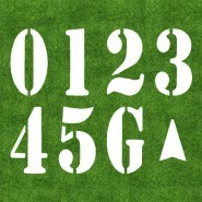 6' US Football Field Number Kit