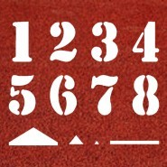3' Track and Field Numbering Kit